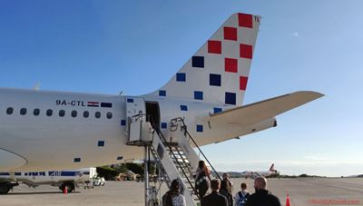 Croatian Airlines A319 at Split Airport