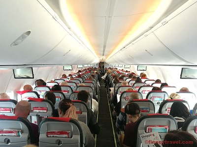 Boeing Sky interior in B737-800 plane