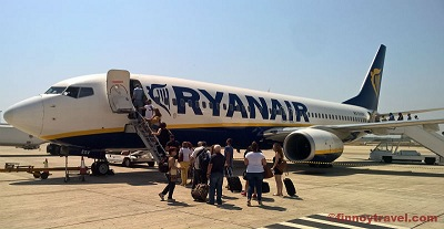 Ryanair B737 plane at Athens Airport