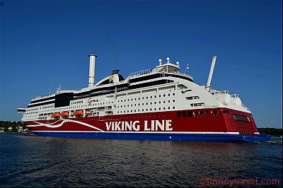 Viking Line ferry chimney