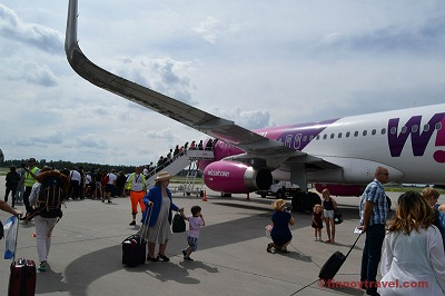 Wizz Air boarding at Warsaw Airport