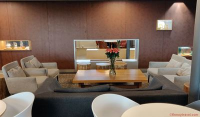 Sofas at Aspire Lounge Helsinki Airport